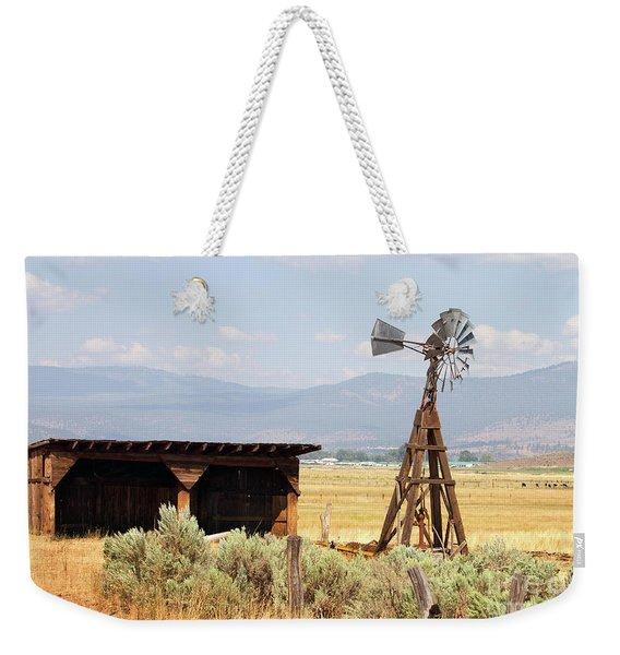 Water Pumping Windmill Weekender Tote Bag