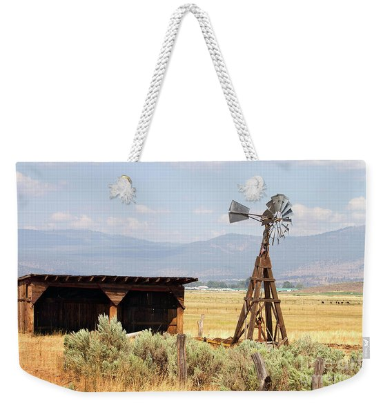 Water Pumping Windmill Weekender Tote Bag