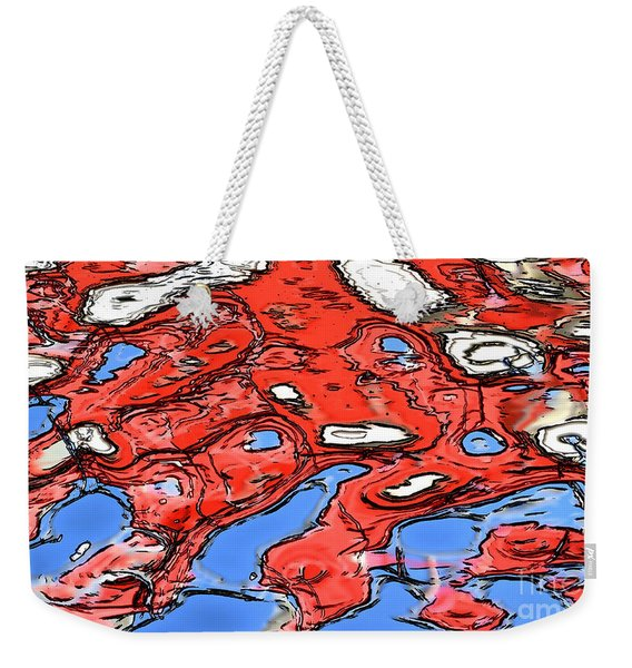 Water Reflection Abstract Weekender Tote Bag