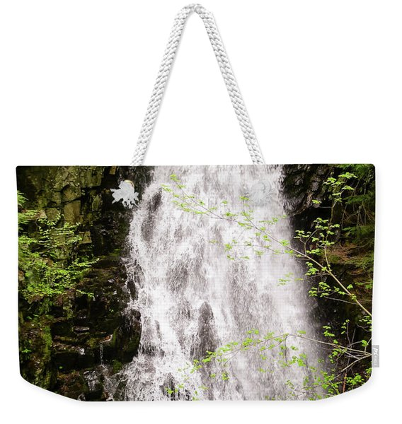 Weekender Tote Bag featuring the photograph Water Roaring Down Cascade Falls, Farmington, Maine  -30377 by John Bald