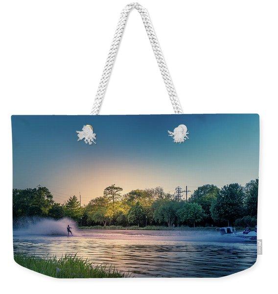Water Ski  Weekender Tote Bag
