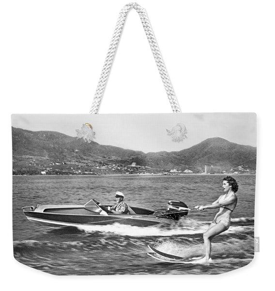 Water Skiing In Acapulco Weekender Tote Bag