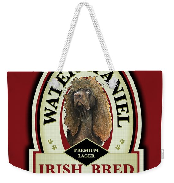 Water Spaniel Irish Bred Premium Lager Weekender Tote Bag