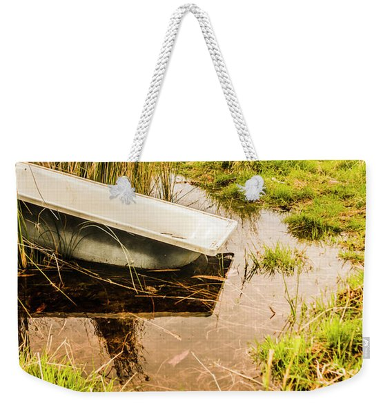 Water Troughs And Outback Farmland Weekender Tote Bag