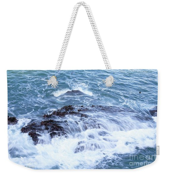 Weekender Tote Bag featuring the photograph Water Turmoil by Richard J Thompson