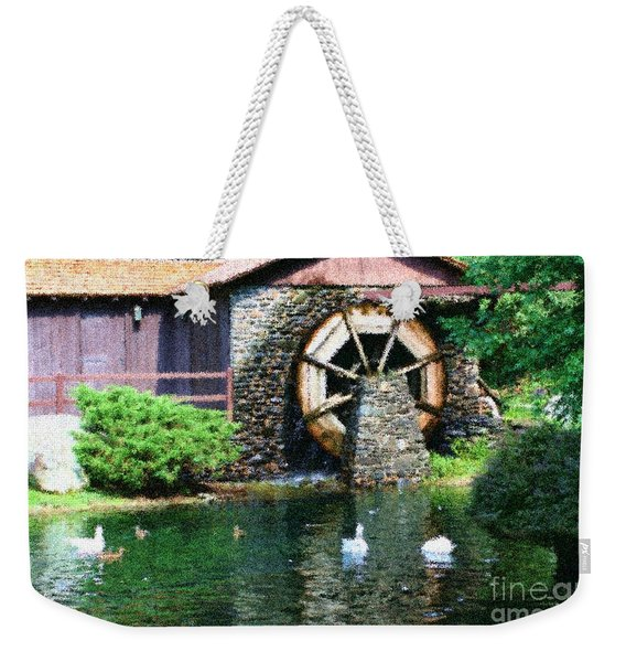 Water Wheel Duck Pond Weekender Tote Bag