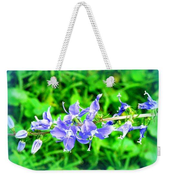 Watercolor Blooms Weekender Tote Bag