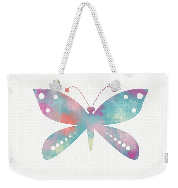 Watercolor Butterfly 3-art By Linda Woods Weekender Tote Bag