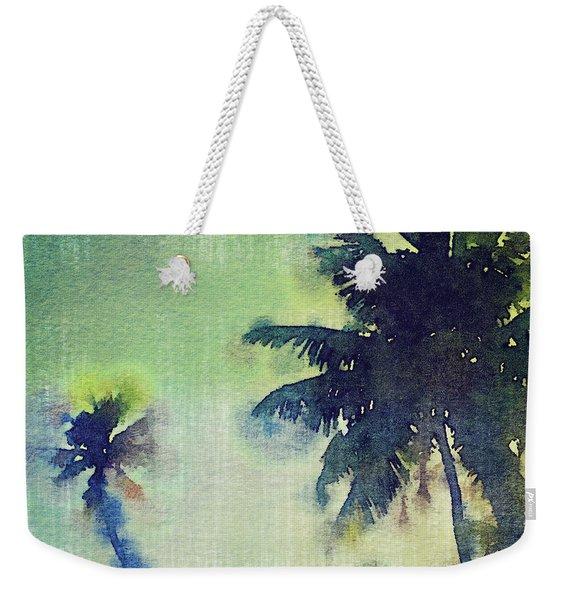 Watercolor Coconut Tree Tropical Vintage Palm  Weekender Tote Bag