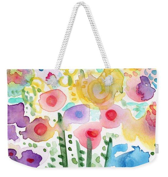 Watercolor Flower Garden- Art By Linda Woods Weekender Tote Bag