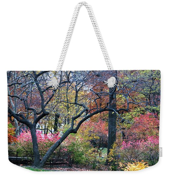 Weekender Tote Bag featuring the photograph Watercolor Forest by Lorraine Devon Wilke