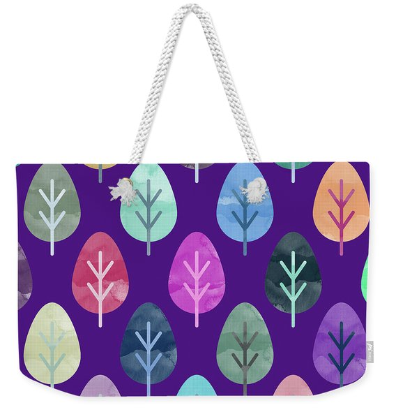 Watercolor Forest Pattern II Weekender Tote Bag