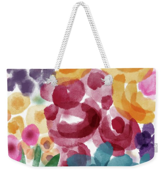 Watercolor Garden Flowers- Art By Linda Woods Weekender Tote Bag