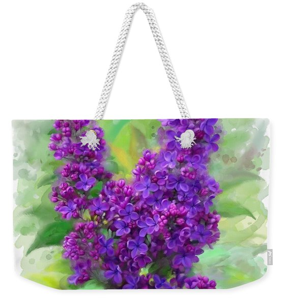 Watercolor Lilac Weekender Tote Bag