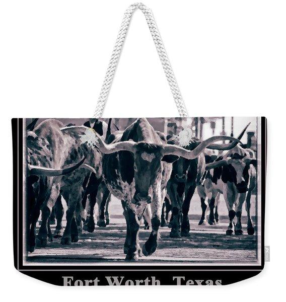 Watercolor Longhorns 2015 Weekender Tote Bag