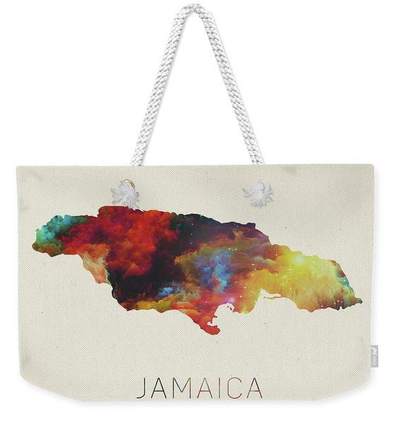 Watercolor Map Of Jamaica Weekender Tote Bag