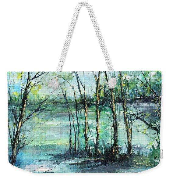 Watercolor Morning Weekender Tote Bag