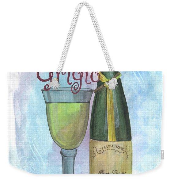 Watercolor Pinot Grigio Weekender Tote Bag