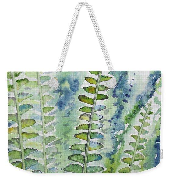 Watercolor - Rainforest Fern Impressions Weekender Tote Bag