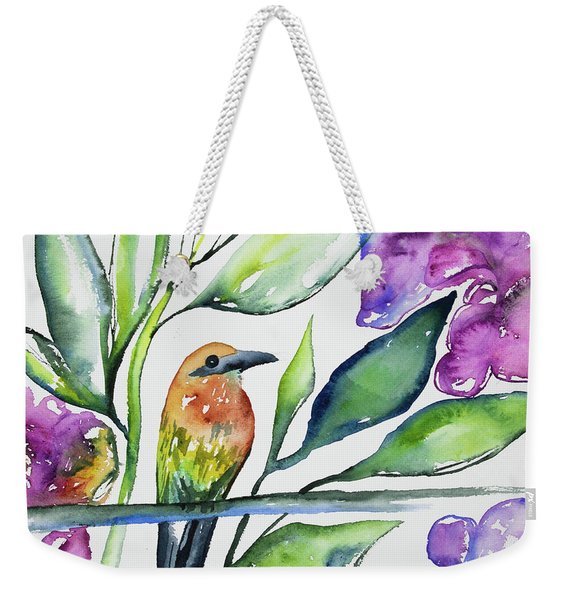 Watercolor - Rufous Motmot Weekender Tote Bag