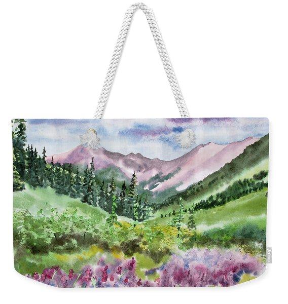 Watercolor - San Juans Mountain Landscape Weekender Tote Bag