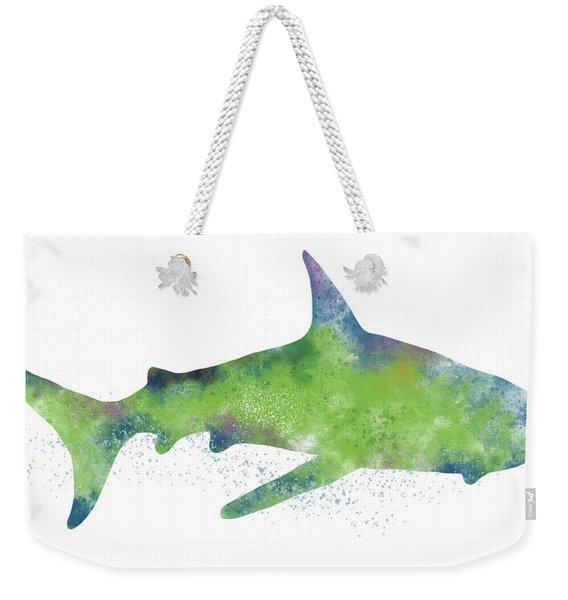 Watercolor Shark 2-art By Linda Woods Weekender Tote Bag