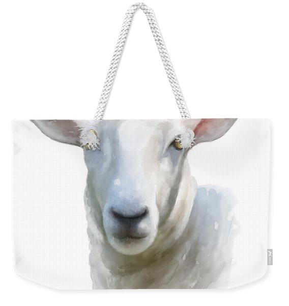 Watercolor Sheep Weekender Tote Bag