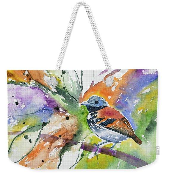 Watercolor - Spotted Antbird Weekender Tote Bag