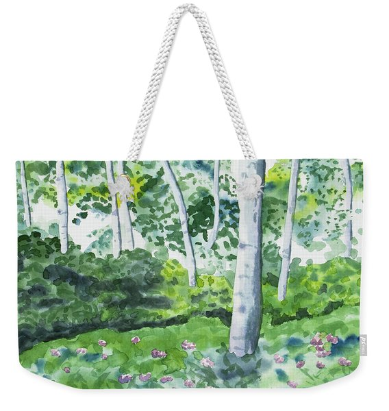 Watercolor - Spring Forest And Flowers Weekender Tote Bag