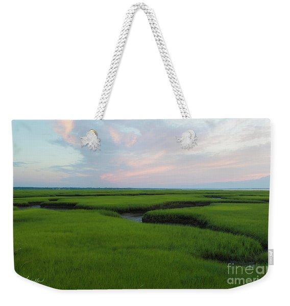 Watercolor Sunset Weekender Tote Bag