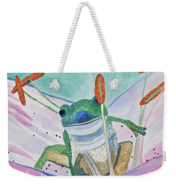 Watercolor - Tree Frog Weekender Tote Bag