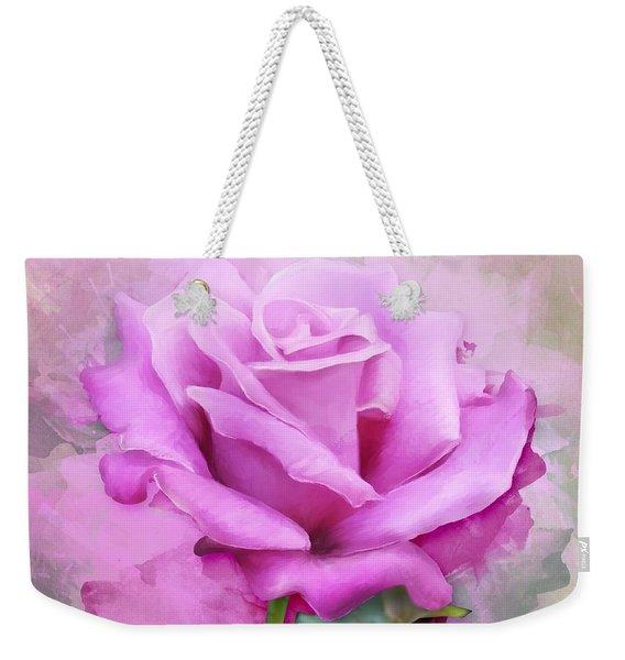 Watercolour Pastel Lilac Rose Weekender Tote Bag