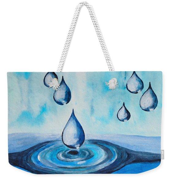 Waterdrops Weekender Tote Bag