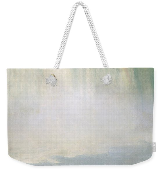 Waterfall And Rainbow At Niagara Falls Weekender Tote Bag