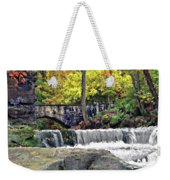Waterfall At Olmsted Falls - 1 Weekender Tote Bag