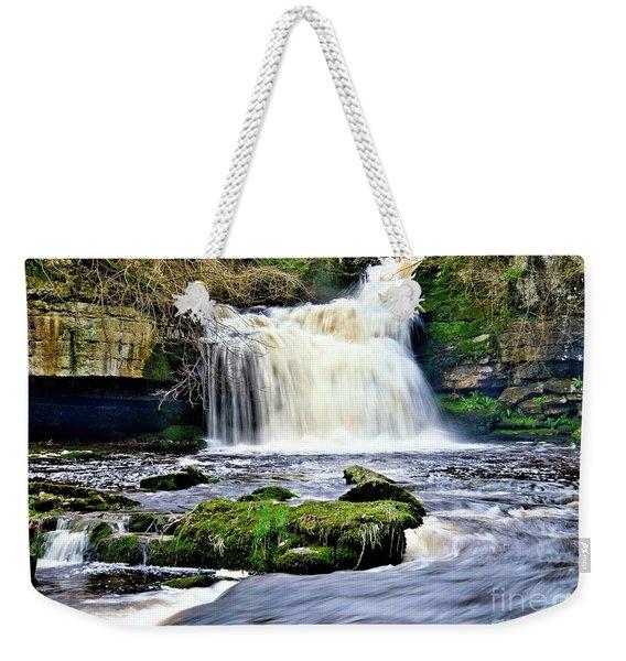 Waterfall At West Burton, Yorkshire Dales Weekender Tote Bag