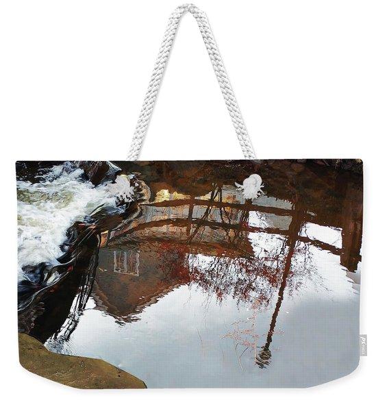 Waterfall From Calm Waters Weekender Tote Bag