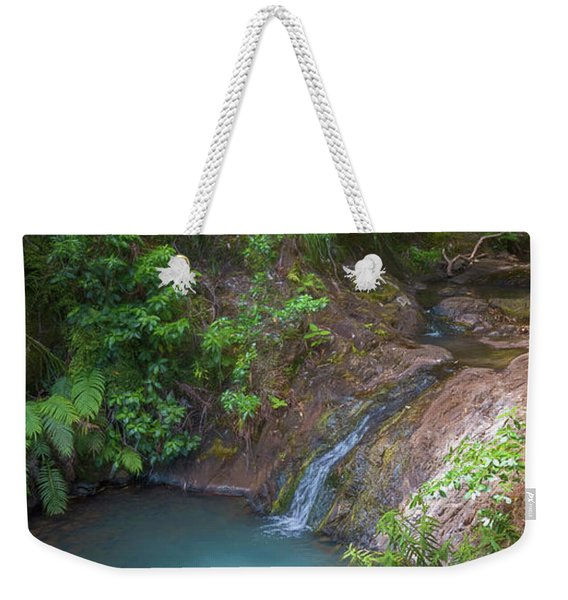 Waterfall Great Barrier Island New Zealand Weekender Tote Bag