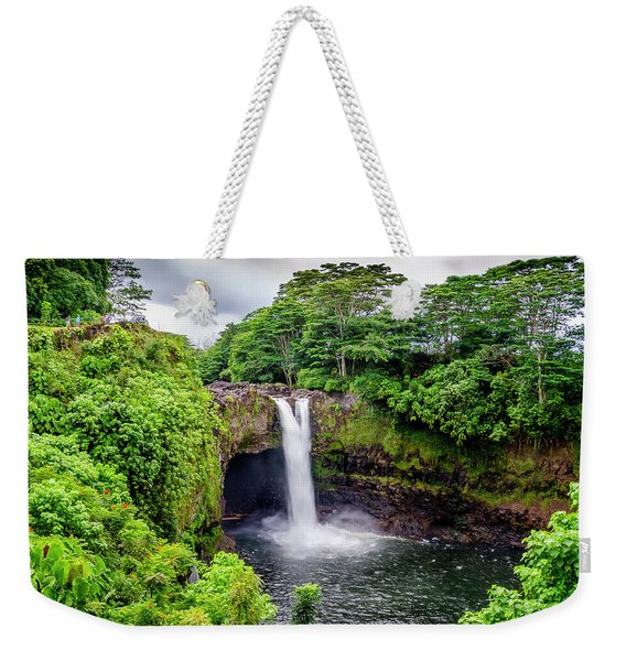 Waterfall Into The Valley Weekender Tote Bag