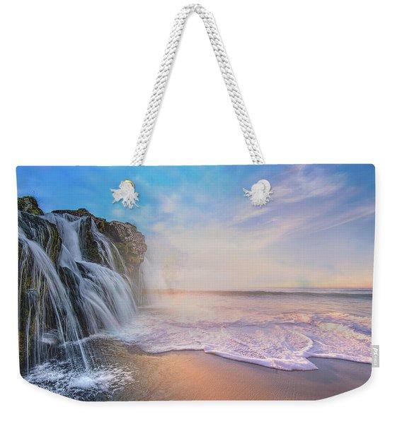 Waterfalls Into The Ocean Weekender Tote Bag