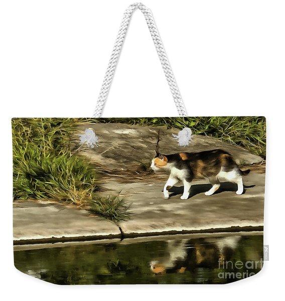 Waterfront Walking Kitten Weekender Tote Bag
