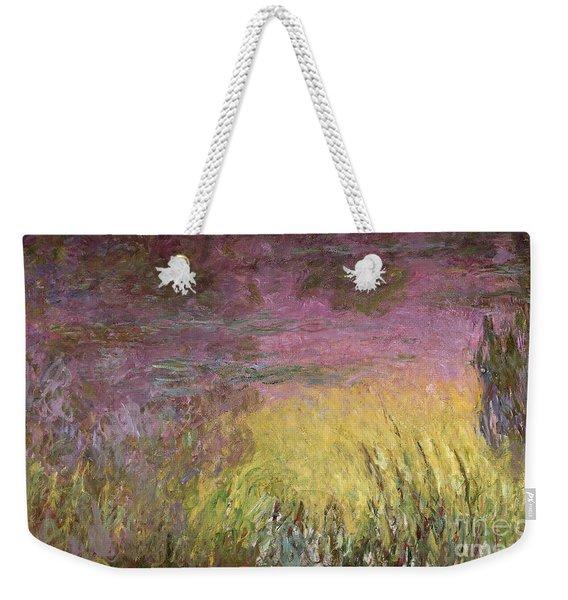 Waterlilies At Sunset Weekender Tote Bag