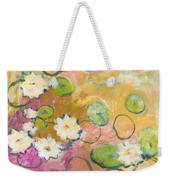 Waterlillies At Dusk Weekender Tote Bag