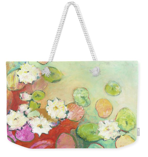 Waterlillies At Dusk No 2 Weekender Tote Bag