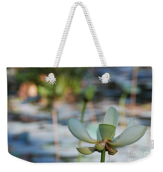 Waterlily Wash Horizontal Weekender Tote Bag