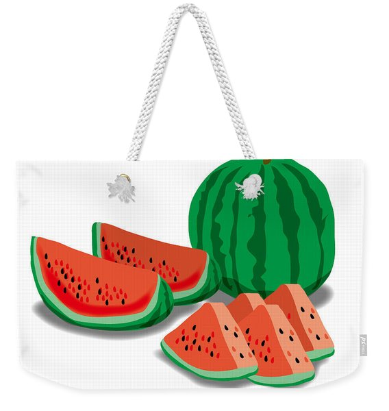 Watermelon Weekender Tote Bag