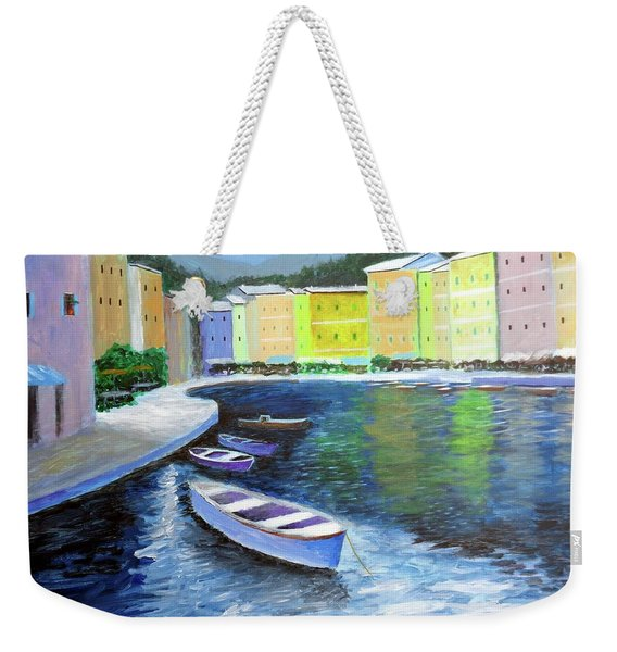 Waters Of Portofino  Weekender Tote Bag