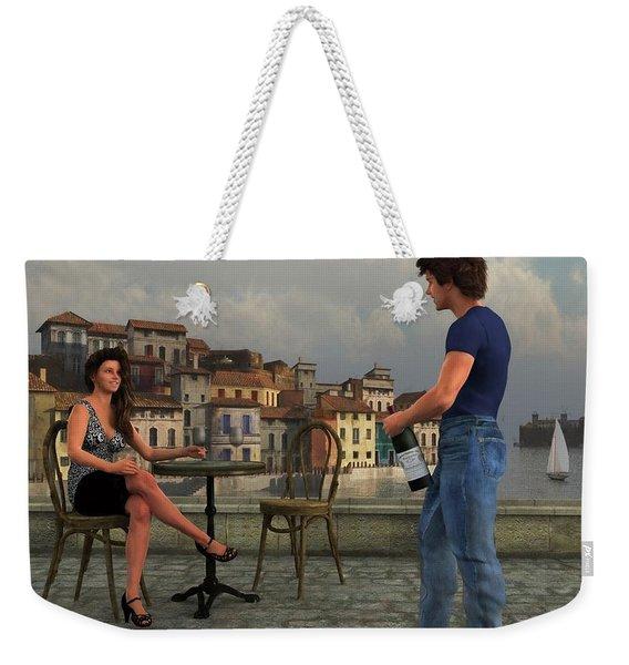 Waterside Wine Bar Weekender Tote Bag