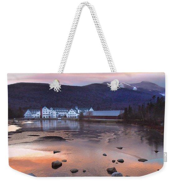 Waterville Valley Sunset Weekender Tote Bag