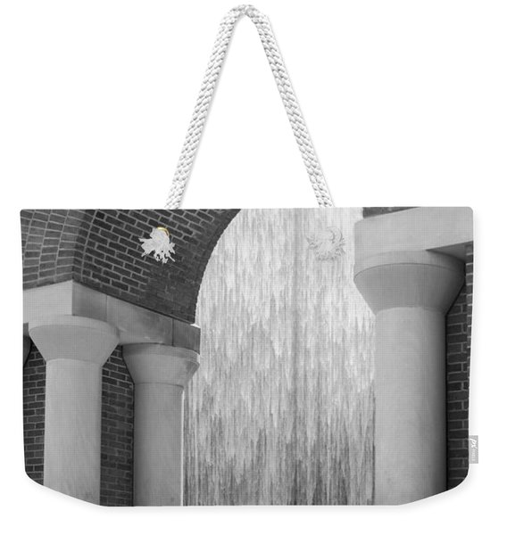 Waterwall And Arch 3 In Black And White Weekender Tote Bag